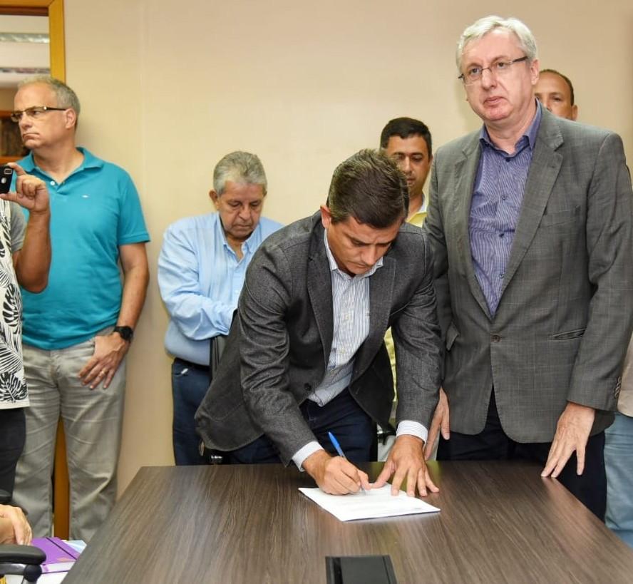 Fabiano Horta e secretários fizeram cerimônia de posse/Foto: Divulgação