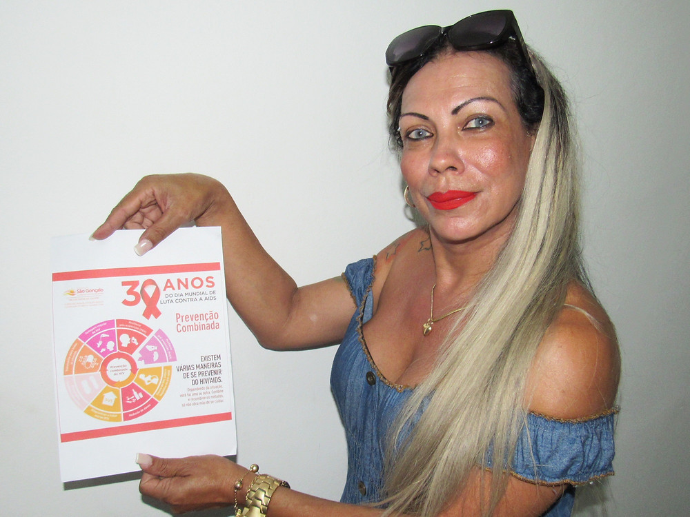 Mulher trans, Stefani Brasil usa o tratamento oferecido na Clínica de Saúde do Barro Vermelho/Foto: Divulgação