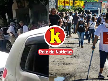 Falta de vacinas gera tumulto em São Gonçalo