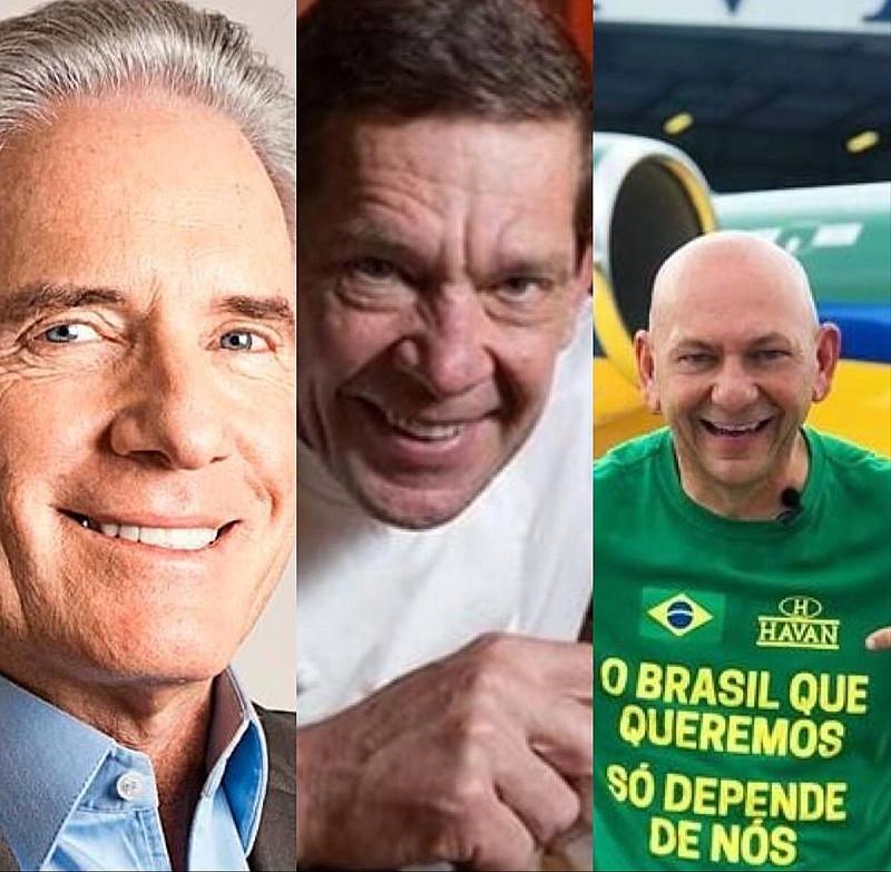 Empresários brasileiros como Roberto Justus, Junior Durski da rede Madero e Luciano Hang das Lojas Havan defenderam que a pandemia não deveria ser alvo de preocupação - Reprodução
