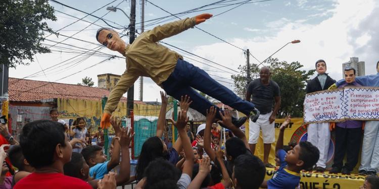 Bonecos de Judas em Belém do Pará/Foto: O Liberal