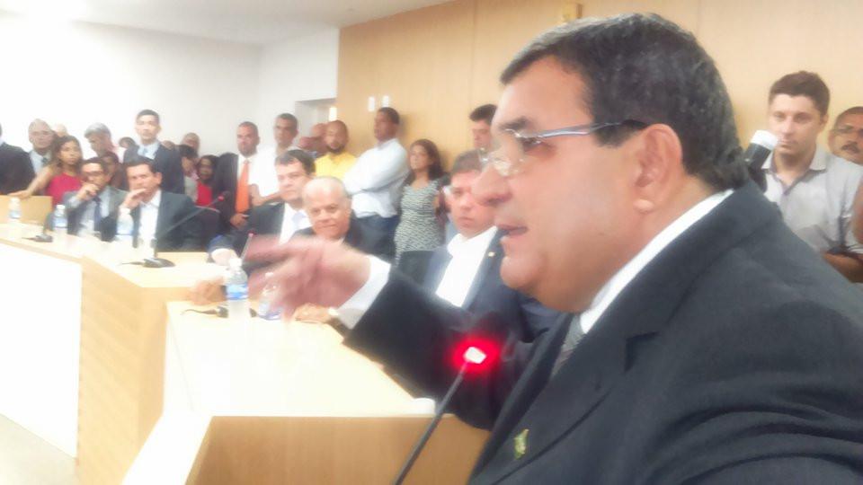 Nanci no discurso de posse. Foto: Jornal Daki