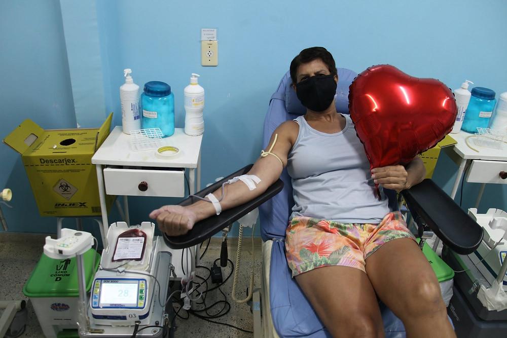 Ana Maria Nascimento, de 60 anos, abraçou a campanha/Foto: Divulgação