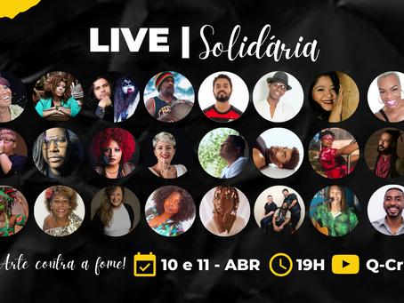Artistas fazem live para arrecadar alimentos em São Gonçalo