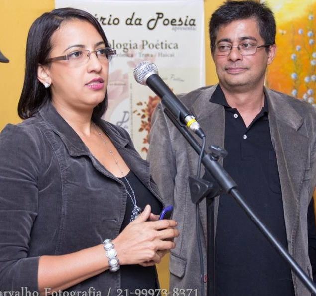 Cristiana Souza e Helcio Albano da Editora Apologia Brasil. Foto: Mayra Carvalho
