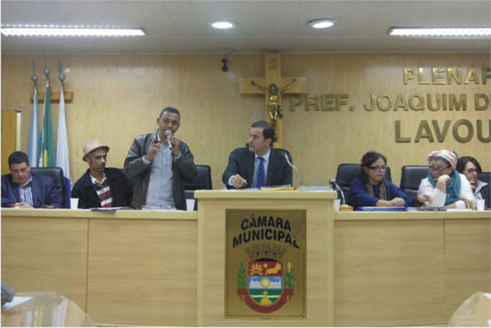 Michel Portugal, gestor cultural André Correia, Vereador Paulo, Vereador Diego São Paio, gestora Cleise Campos, ativista Mãe Marcia e Matheus Guimarães
