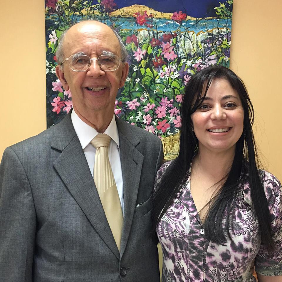 Drª Marcia Neves Santiago, ao lado do presidente da OAB de Niterói Dr. Antonio José Barbosa
