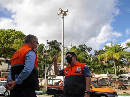 Defesa Civil testa novo acionamento por sirenes nas comunidades de São Gonçalo