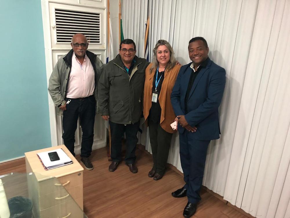 Nanci recebeu representantes do estado em seu Gabinete. O vereador Claudio Rocha (à direita) participou da reunião
