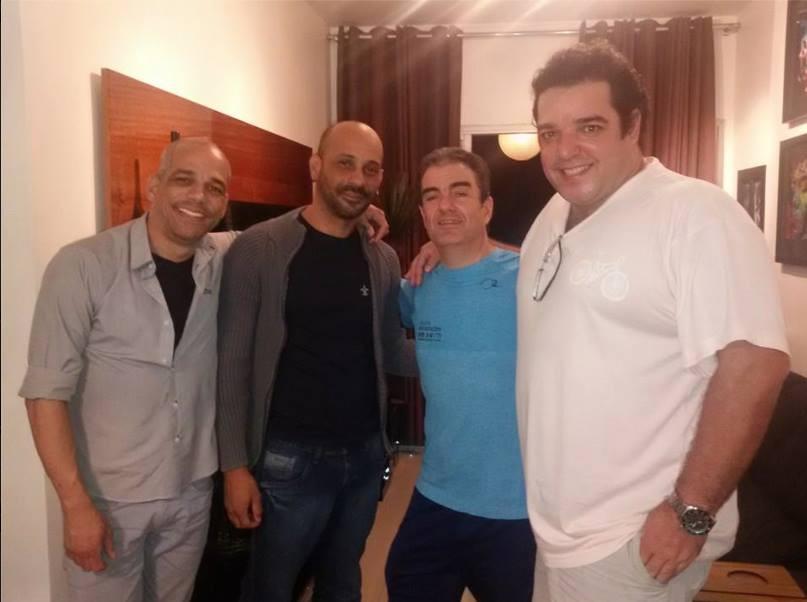 Alberto Sena, Leandro Rangel, Kadu Flu e Gabriel Faro
