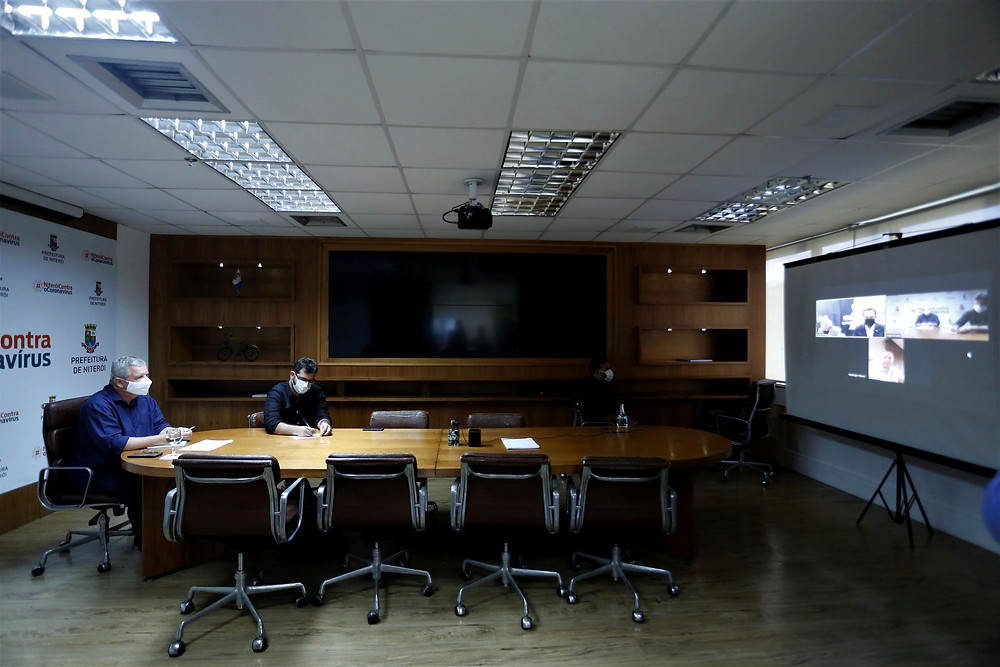 Governador Dória deu a notícia em vídeo-conferência/Foto: Douglas Macedo