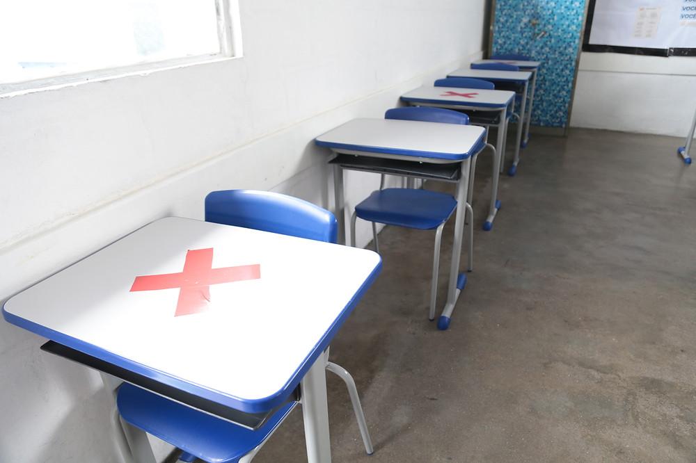 As salas foram preparadas para receber os alunos com distanciamento/Foto: Divulgação