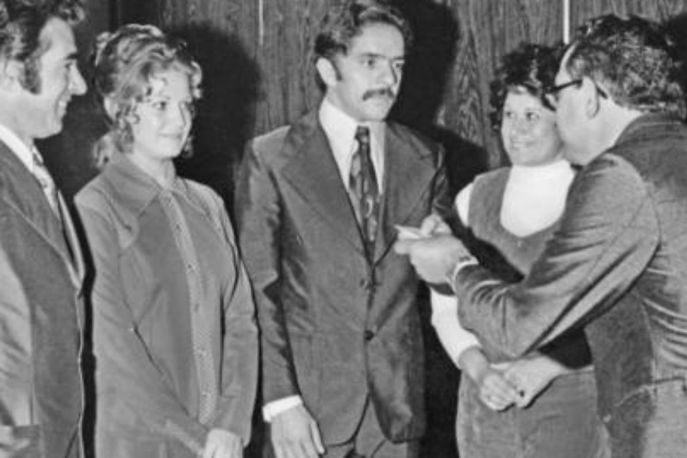 Lula e Marisa em 1974. 6 meses apos se conhecerem, já estavam casados. ACERVO Instituto Lula