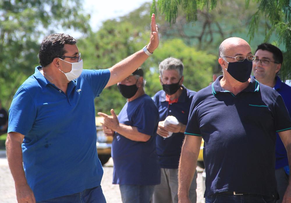 O  O atual prefeito José Luiz Nanci foi o único a postar em suas redes atividades nas ruas/Foto: Divulgação