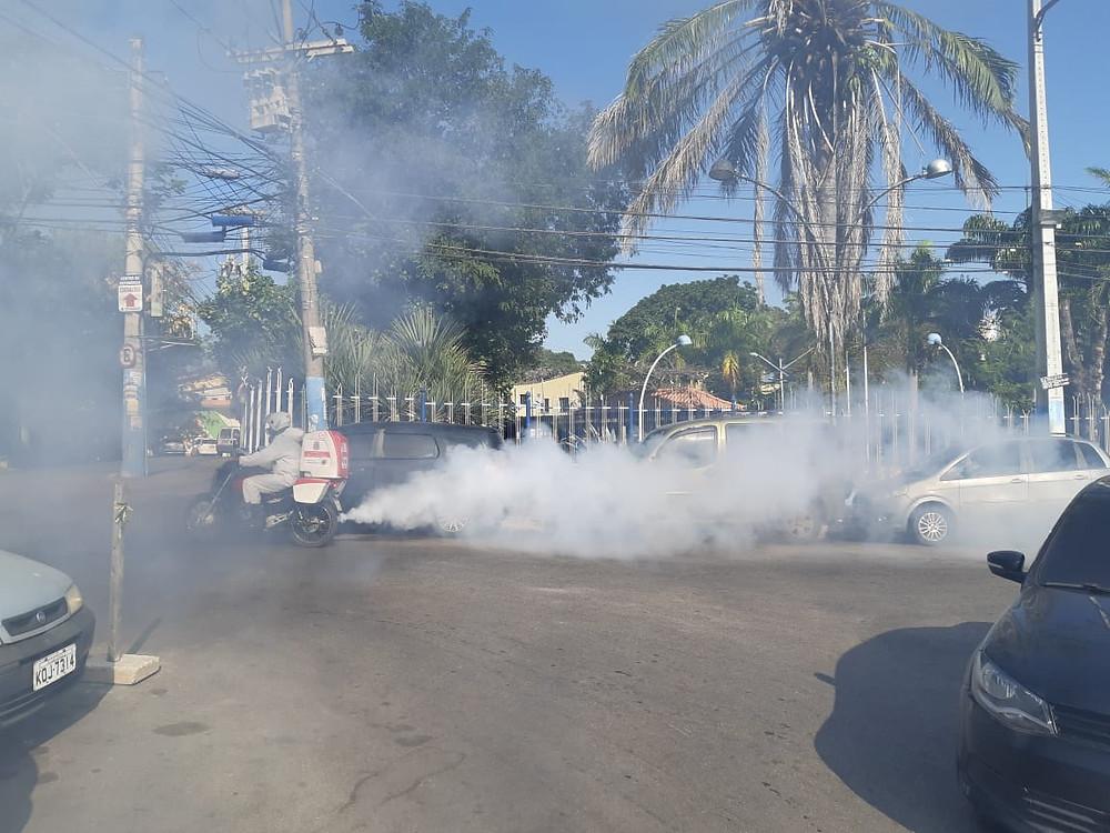 Sanitização no Centro/Foto: Divulgação
