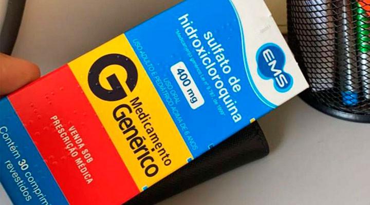 Caixa de sulfato de hidroxicloroquina (foto: Twitter)