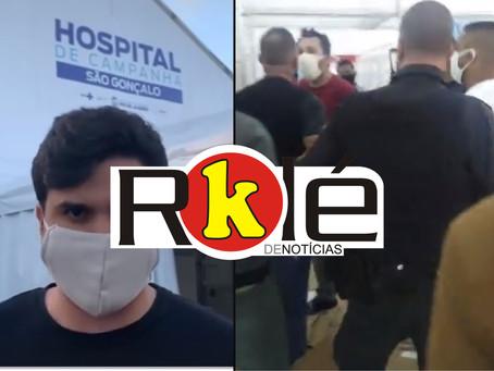 Um deputado que visita e fiscaliza e outro que invade e contamina um hospital