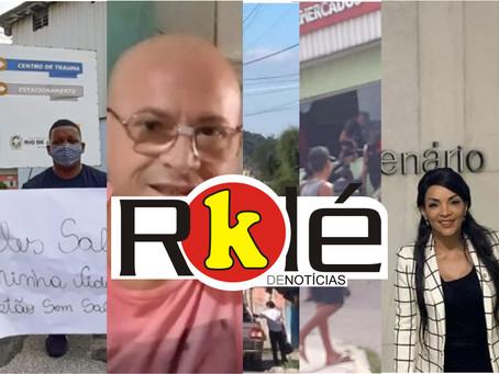 Homem protesta em solidariedade a funcionários do HEAT que estão sem salários: 'Salvaram minha vida'
