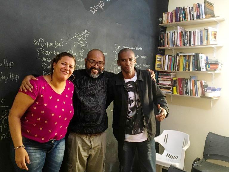 Priscila, DMA e Patrão na Incubadora do Instituto Enraizados