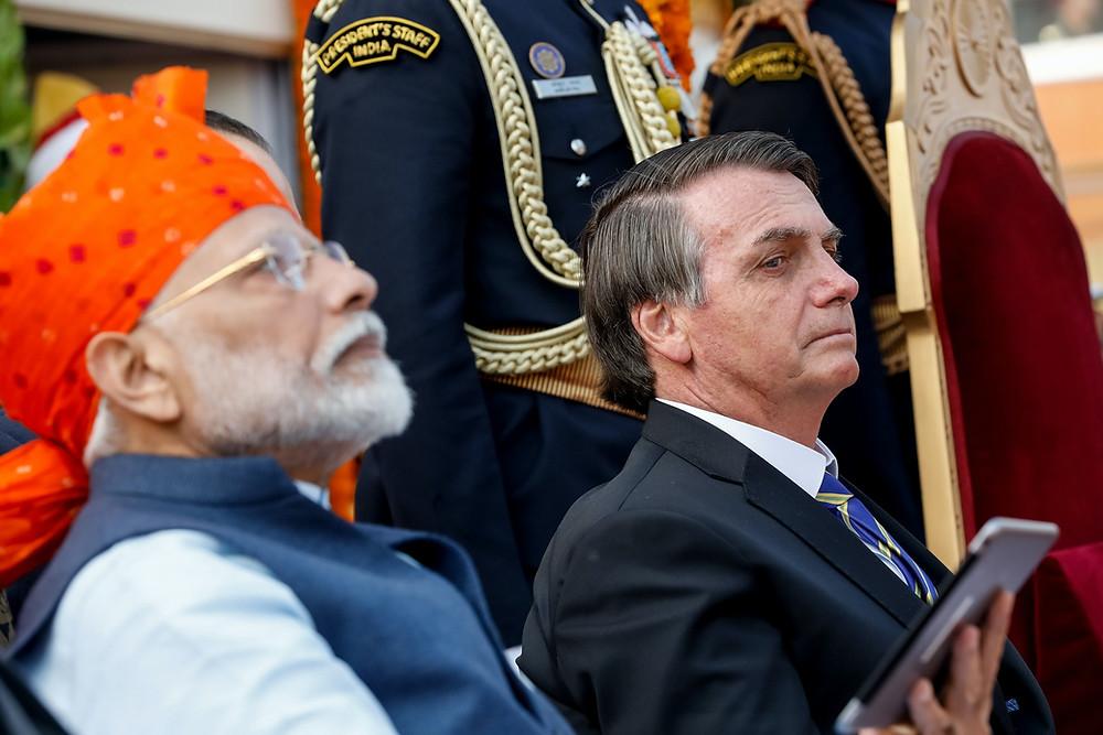 Bolsonaro com Modi, presidente indiano/Foto: Alan Santos/PR