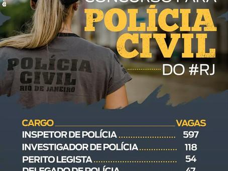 Polícia Civil do RJ: 864 vagas confirmadas