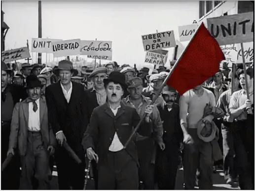 Chaplin, em Tempos Modernos/Reprodução