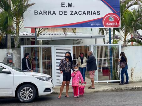 Escolas municipais de Maricá voltam às aulas de modo híbrido