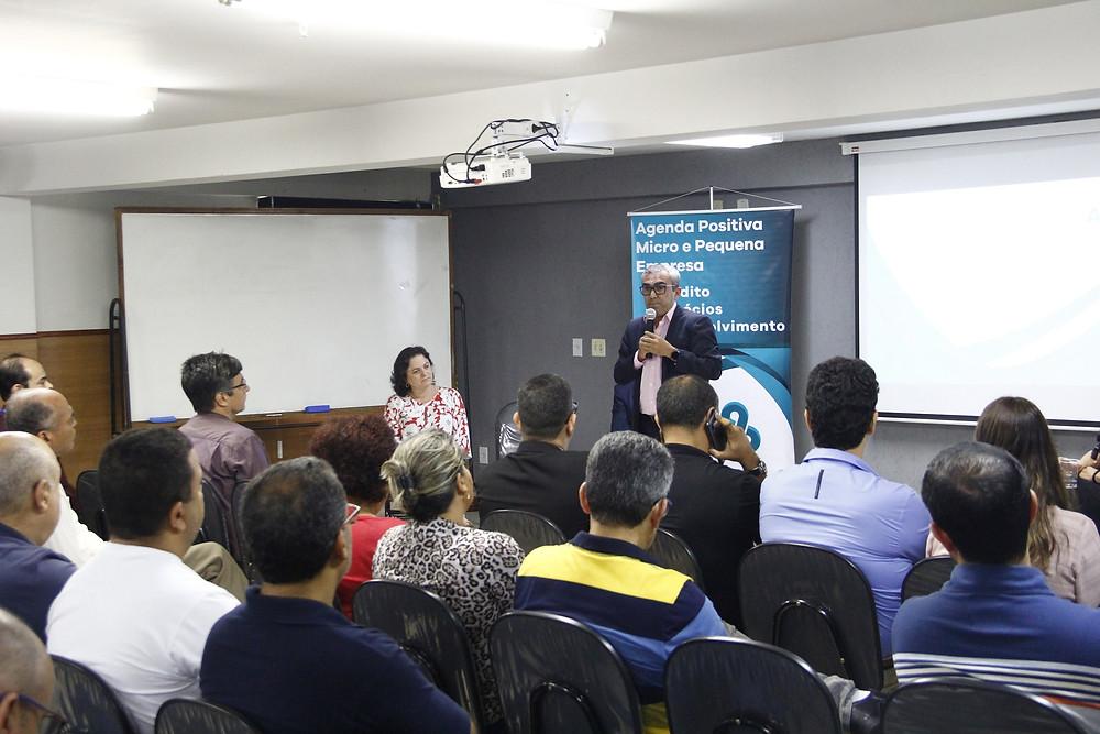 A chefe de gabinete Eliane Gabriel e o secretário Evanildo Barreto participaram do encontro/Foto: Divulgação