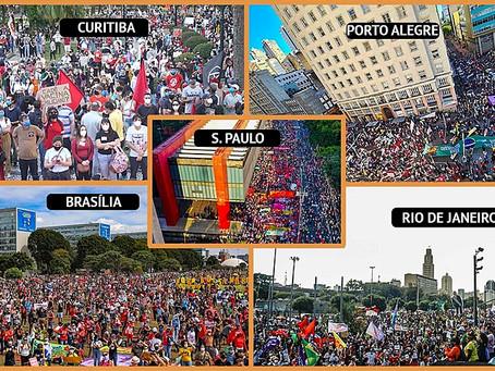 Brasil vai às ruas pedir vacina, auxílio e Fora Bolsonaro