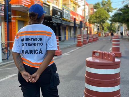 Coronavírus: Trânsito muda no Centro de Maricá e reduz aglomerações