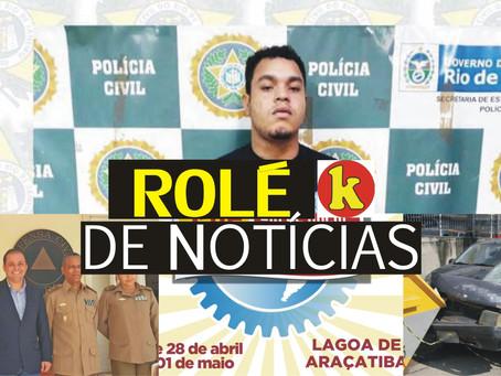 Preso o chefe dos arrastões em bares de Icaraí; Tiroteio em Santa Catarina e muito mais