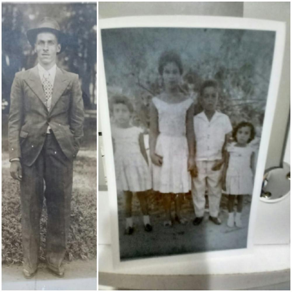 Foto: Zé Branco (lado esquerdo), Catarina e os irmãos (lado direito). Acervo familiar.