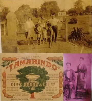 Família Diaz André e rótulo de laxante fitoterápico de tamarindo/Foto: Acervo da família