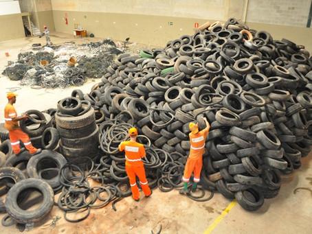 Programa já garantiu recolhimento de 20 mil pneus em SG