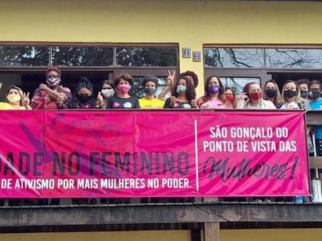 Mulheres vão à luta em apoio a candidaturas femininas em São Gonçalo