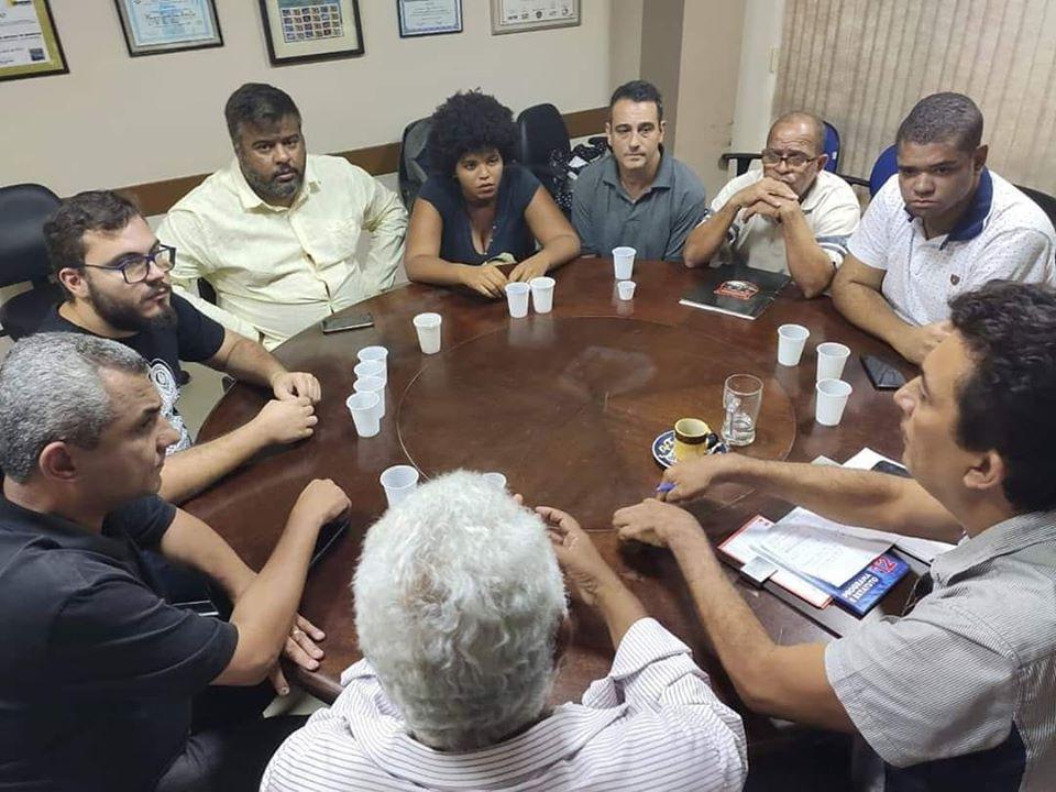 Reunião tensa no dia 21/1, na sede do PDT no Rio de apresentação de Marlos ao partido. Um dia depois Randal soltou o textão/Foto: Facebook Henrique Porto