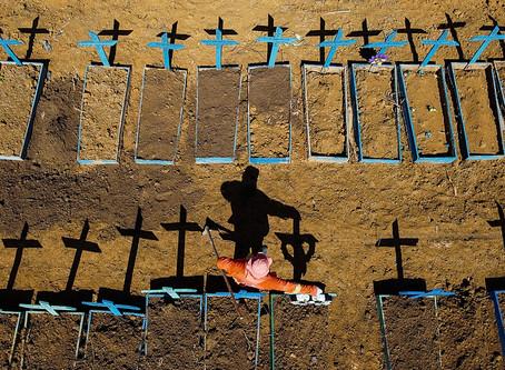 Brasil é o país com mais registros de mortes no mundo por covid no mês de julho