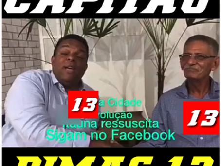 Otoni de Paula pede voto para 'Capitão Dimas'. Veja vídeo