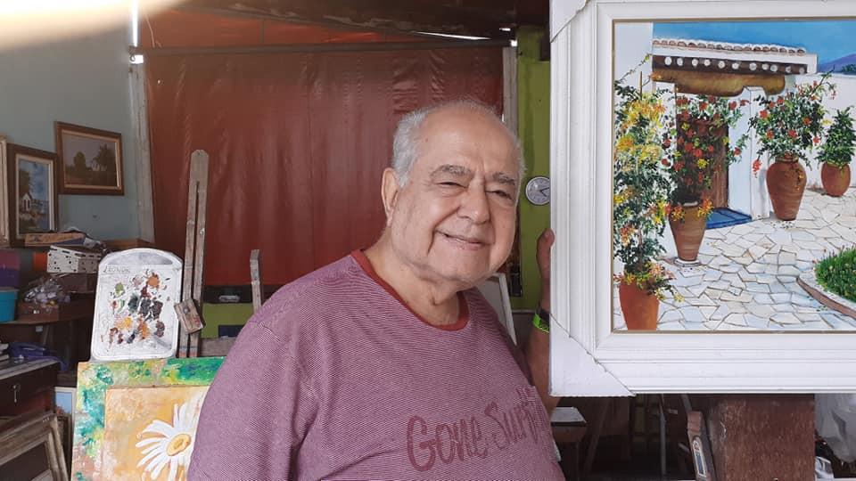 Dentre tantos talentos, também pintor/Foto: acervo pessoal