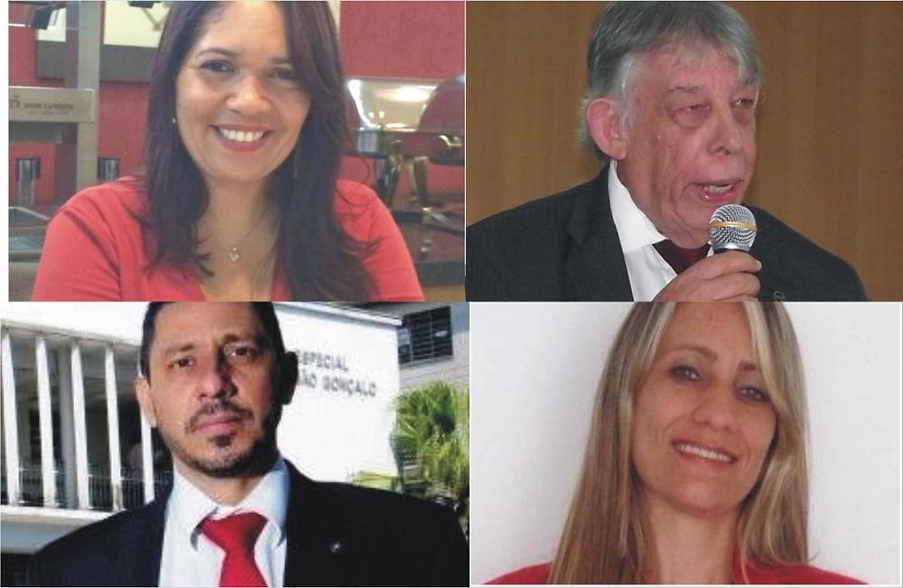 Adriana Brandão, Wilson Castro, Eliano Enzo e Rosilene Alonso