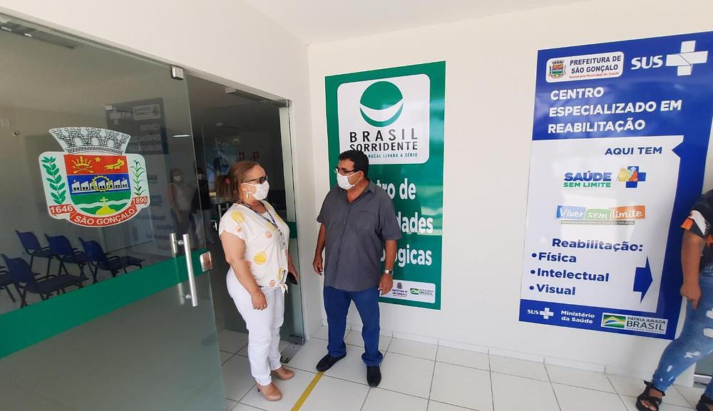 O prefeito José Luiz Nanci visitou o equipamento antes da inauguração/Foto: Divulgação