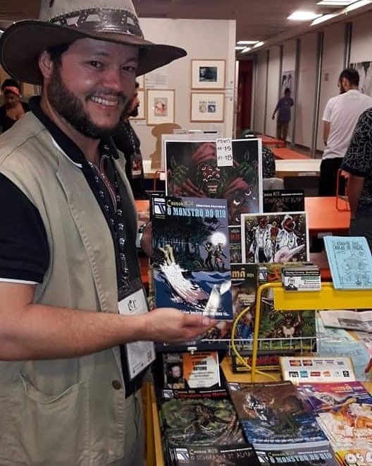 O quadrinista gonçalense Eberton Ferreira é um dos idealizadores do evento/Foto: Divulgação