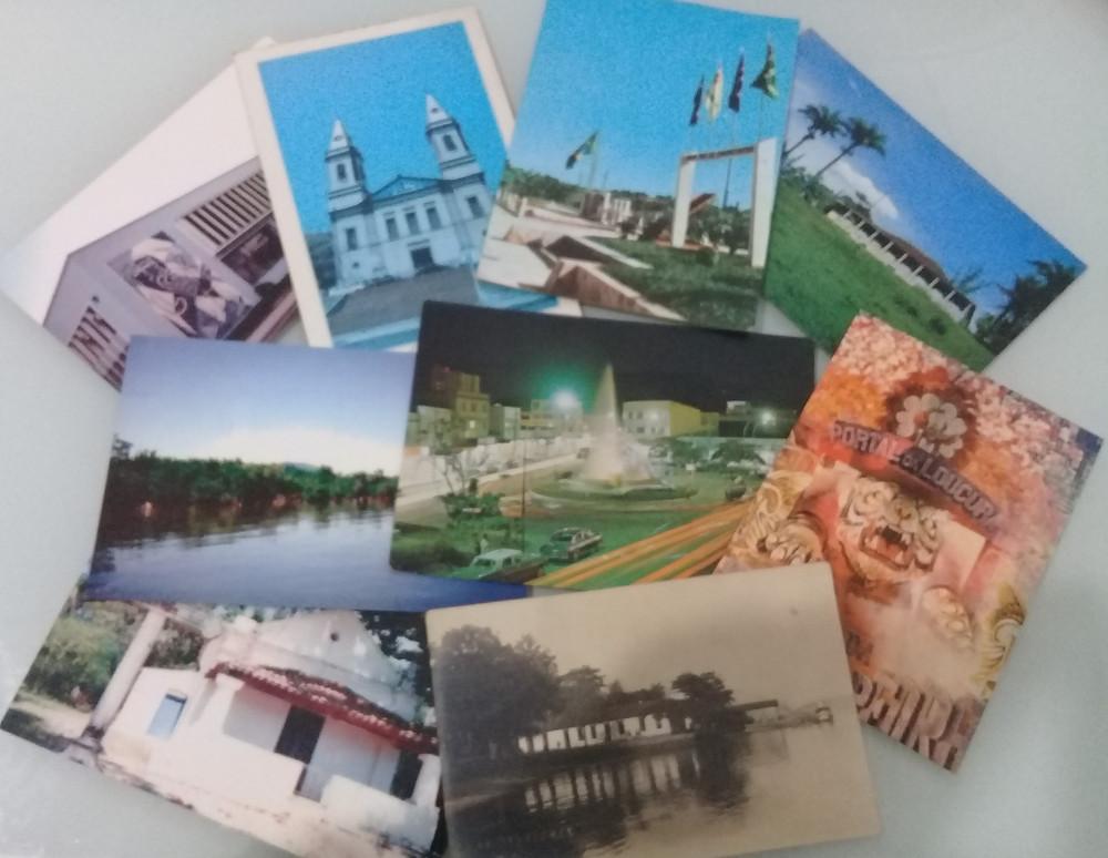 Cartões postais com temas gonçalenses/Imagem: arquivo Rui Aniceto Fernandes