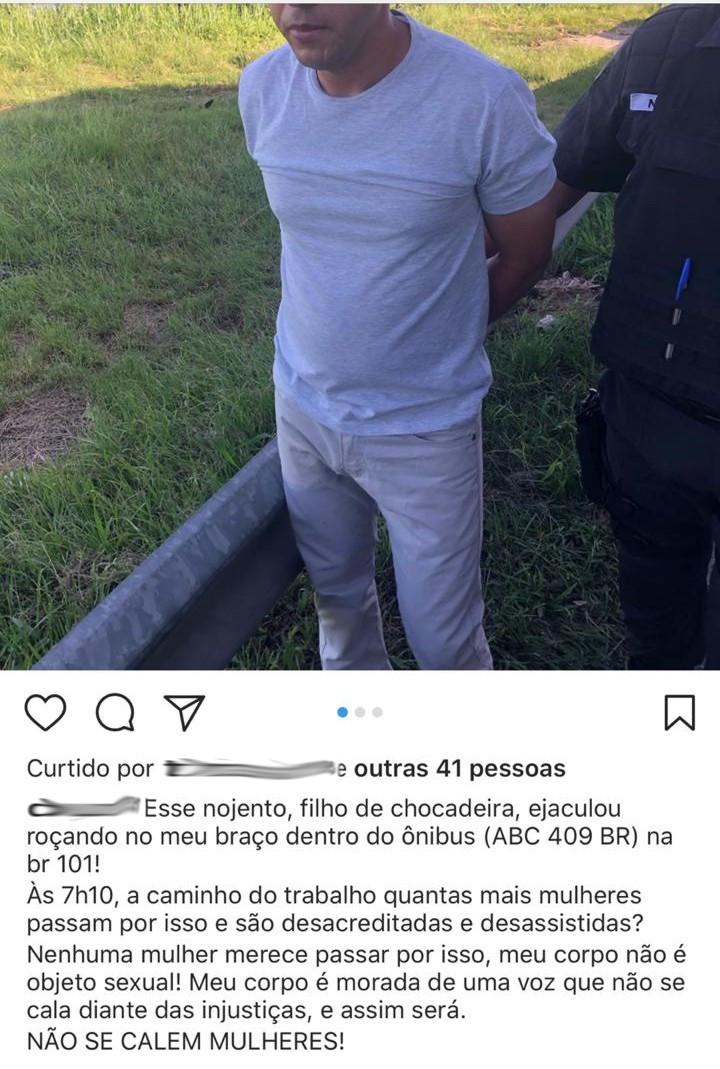 Vítima usou redes sociais para denunciar agressor/Foto:  Divulgação