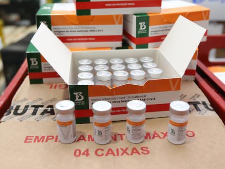 Estado distribui CoronaVac para cobrir segunda dose pendente dos municípios