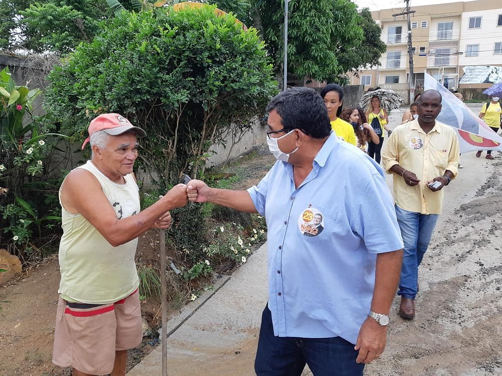 Nanci esteve no Morro do Abacatão/Foto: Divulgação