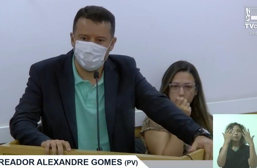 Alexandre Gomes/Reprodução TV Câmara