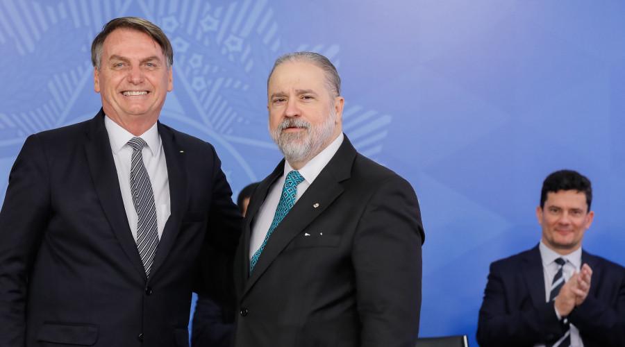 Bolsonaro, Aras e Moro (Foto: Presidência da República)