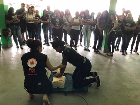 Estudantes recebem palestra do Samu em São Gonçalo
