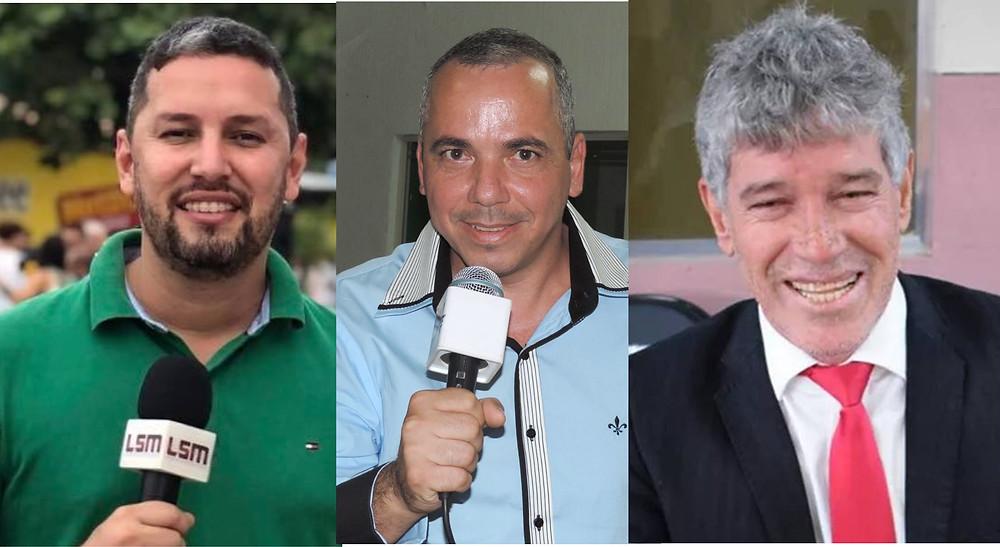 Os jornalistas Romário Barros e Robson Giorno e o vereador Ismael Breve foram assassinados neste ano/Foto: Arte Jornal Daki Divulgação